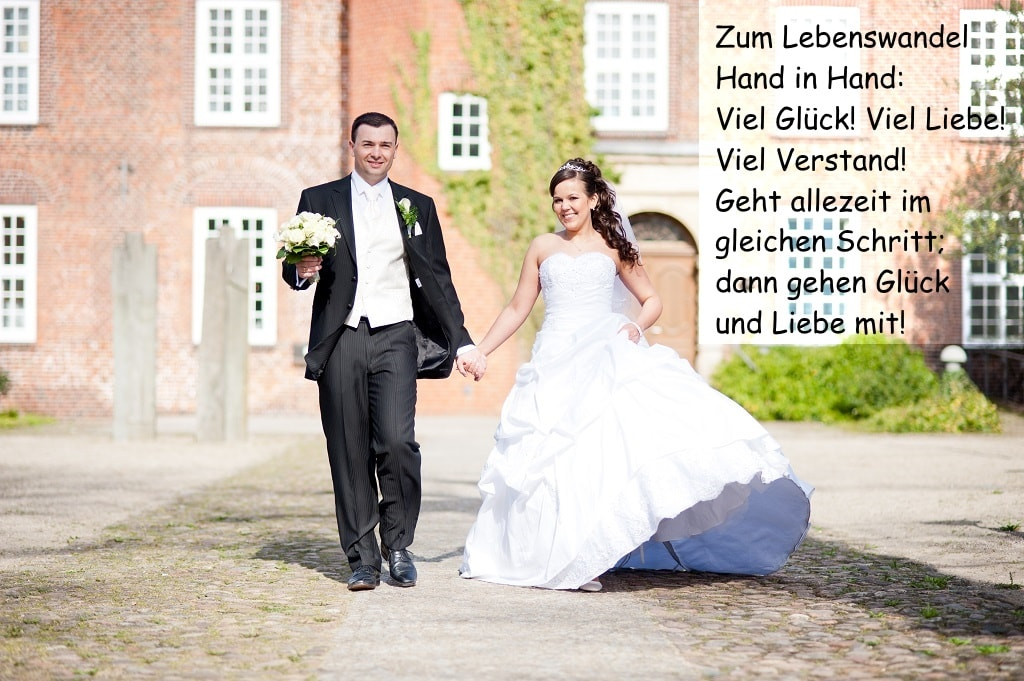Hochzeitsspruche Und Gluckwunsche An Das Brautpaar