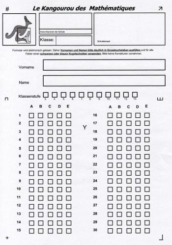Test mathe klasse 3