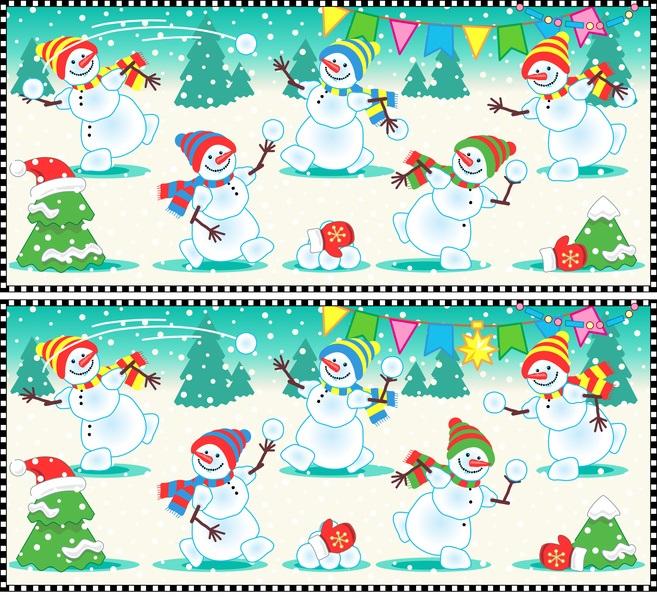 Weihnachtsquiz rätsel finden sie die 10 unterschiede auf dem bild 2