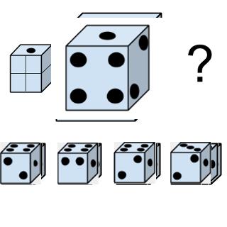Welcher Würfel passt zur Abbildung oben? (Würfel Nr.3)