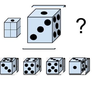Welcher Würfel passt zur Abbildung oben? (Würfel Nr.4)