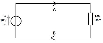 Wie groß ist der Strom unter B?
