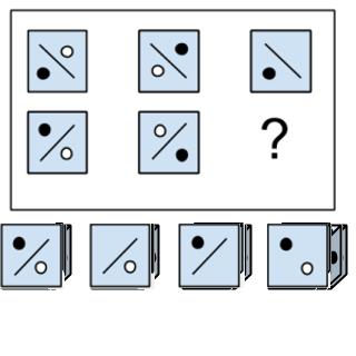 Ersetze das Fragezeichen durch die passende Figur.