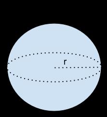Eine Kugel hat einen Radius von 9 cm. Berechnen Sie das Volumen.