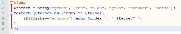 foreach-Schleife mit key/value: Wie lautet die Ausgabe?