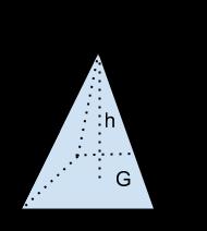 Eine Pyramide hat eine Höhe von 8 m und ein Quadrat als Grundfläche mit einer Seitenlänge von 20 m. Wie hoch ist das Volumen der Pyramide?